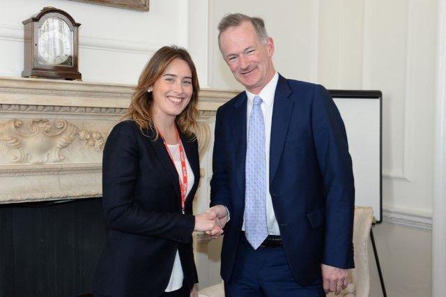 John meets with with Italian counterpart, Maria Elena Boschi