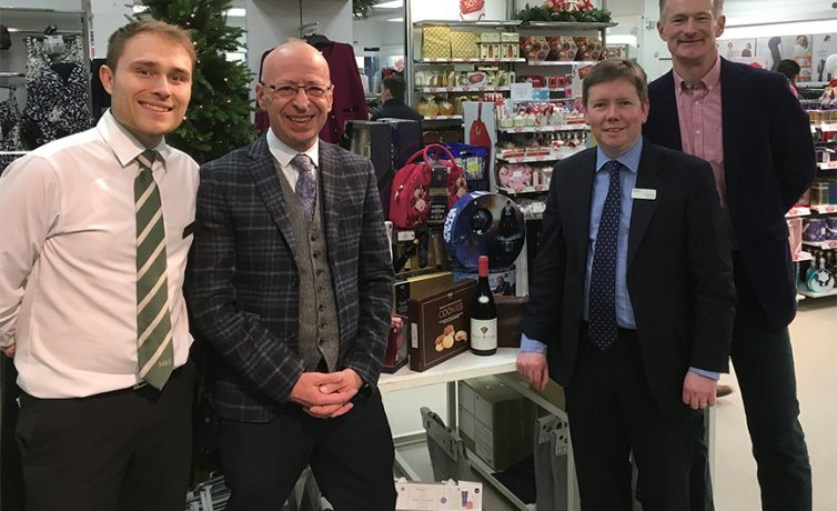 John supports Chris and Marks & Spencer in their 999 National Memorial Fundraising