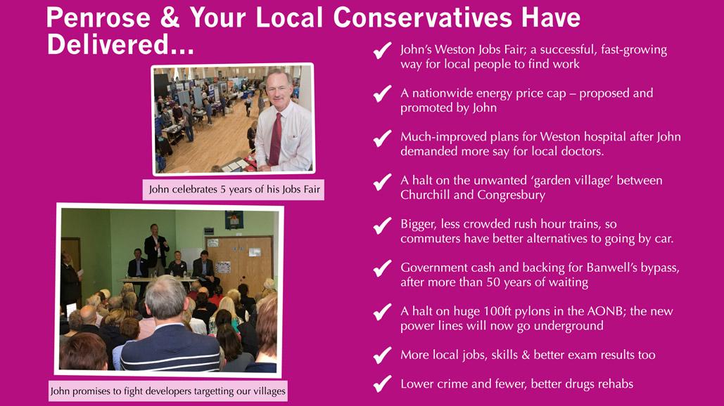 John Penrose & Your Local Conservatives Have Delivered...